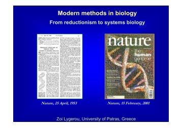 Modern methods in biology