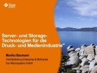 Server- und Storage- Technologien für die Druck- und - Medianetics