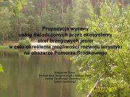 Propozycja wyceny usług świadczonych przez ekosystemy stref ...
