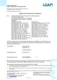 Allgemeines bauaufsichtliches Prüfzeugnis Für ... - Hansgrohe
