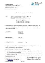 Allgemeines bauaufsichtliches Prüfzeugnis Für: 2-Griff ... - Hansgrohe