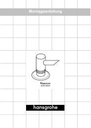 Deutsch Montageanleitung - Hansgrohe