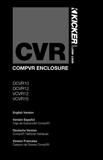 2010 CompVR Box Multilingual b01.indd - Sonic Electronix