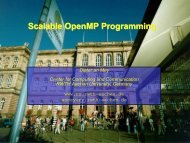 C C C Scalable OpenMP Programming - Computer Architecture Group