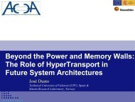 Beyond the power and memory walls - Computer Architecture Group