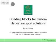 Building blocks for custom HyperTransport solutions - Computer ...