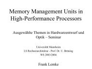 Memory Management Units in High-Performance Processors