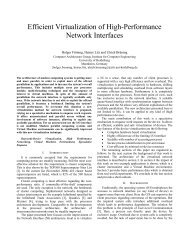 Efficient Virtualization of High-Performance Network Interfaces