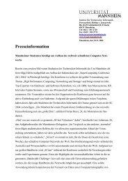 Offizielle Pressemitteilung des Institutes
