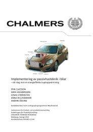 Implementering av passivhusteknik i bilar - Chalmers tekniska ...