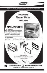 99-7603 Nissan Versa - Sonic Electronix