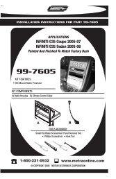 99-7605 - Metra Electronics
