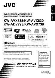 KW-AVX838/KW-AVX830 KW-ADV793/KW-AVX738 - Sonic Electronix
