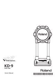 Owners Manual (KD-9_e01_W.pdf) - Roland