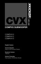 compvx subwoofer - Parts Express