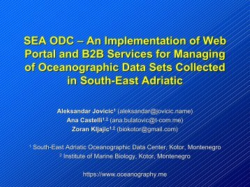 SEA ODC – An Implementation of Web Portal and ... - Copernicus.org