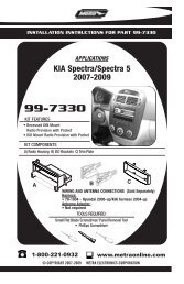 99-7330 - Metra Electronics