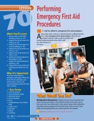 Lesson 70 Performing Emergency First Aid Procedures
