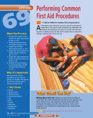 Lesson 69 Performing Common First Aid Procedures