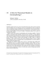 A Role for Theoretical Models in Geomorphology?