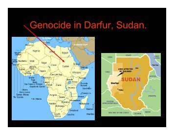 Genocide in Darfur, Sudan.
