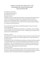 Anförande av Europeiska rådets ordförande José M. Aznar ... - Europa
