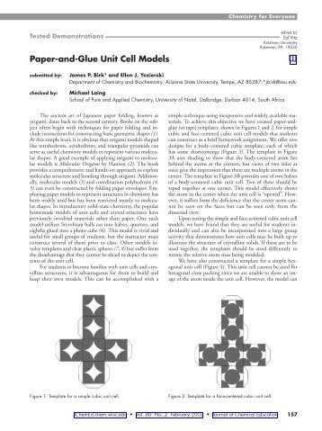Paper-and-Glue Unit Cell Models W