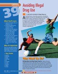 Lesson 39 Avoiding Illegal Drug Use - Epsilen