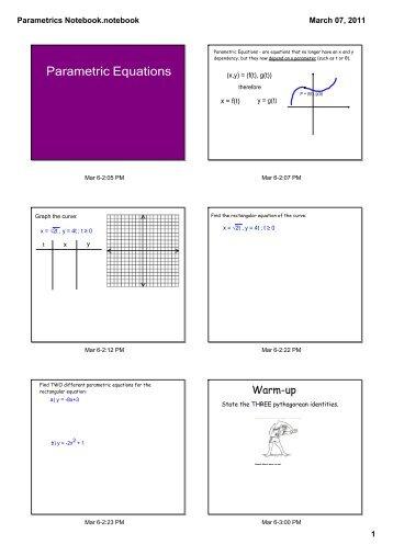 Parametrics Notebook.notebook