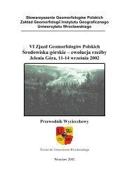 Geomorfologia Sudetów Zachodnich