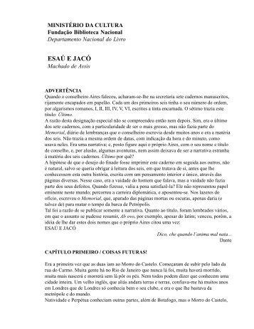 ESAÚ E JACÓ - Fundação Biblioteca Nacional