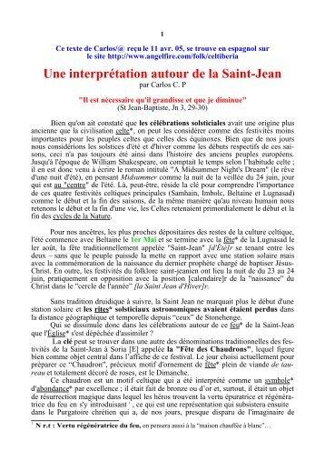 Une interprétation autour de la Saint-Jean - Racines et Traditions en ...
