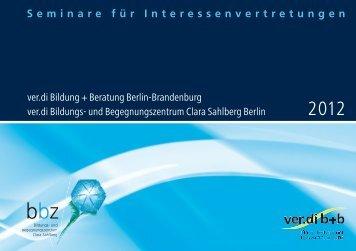 Seminare für Interessenvertretungen ver.di Bildung + Beratung ...