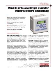 Model 30 pH/Dissolved Oxygen Transmitter Measure 2 Sensors ...