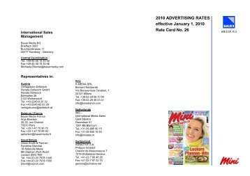 2010 ADVERTISING RATES effective January 1, 2010 Rate Card ...