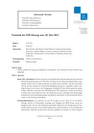 Protokoll der FSR-Sitzung vom 18. Mai 2011 - Fachschaft ...