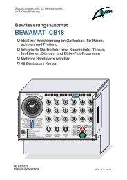 Bewässerungsautomat BEWAMAT- CB18 Ideal zur Bewässerung im
