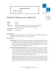 Protokoll der FSR-Sitzung vom 5. Oktober 2011 - Fachschaft ...