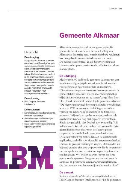 Lees hoe de gemeente Alkmaar de informatievoorziening ... - IBM
