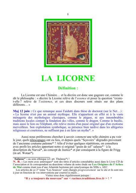 définition de licorne datant Gibson les Paul datant numéro de série