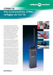 GP900-11b Das unverwüstliche GP900 – verfügbar als FuG 11b