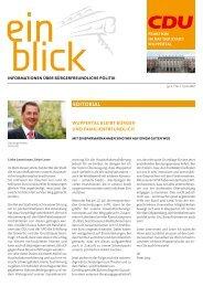 Einblick Juli 2010 - CDU-Fraktion im Rat der Stadt Wuppertal