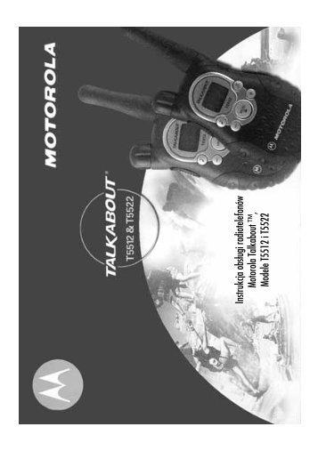 Instrukcja obsługi radiotelefonów Motorola Talkabout ™, Modele ...