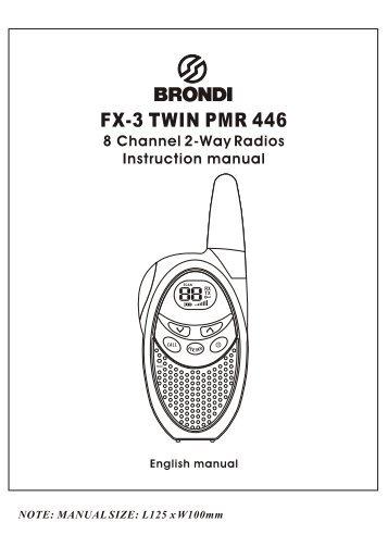 Brondi FX-3 English manual
