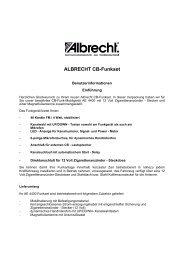ALBRECHT CB-Funkset - Alan-Albrecht Service-Homepage