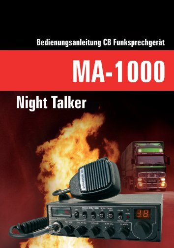 Bedienungsanleitung MA-1000 Night Talker