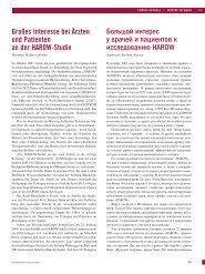 Großes Interesse bei Ärzten und Patienten an der HAROW-Studie ...