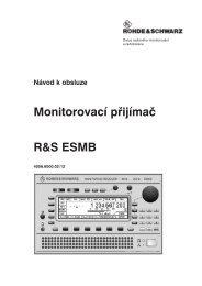Návod k obsluze Monitorovací přijímač R&S ESMB - CB seznam