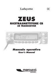 Manuale operativo RicEtRaSMEttitoRE cb - CB Tricks
