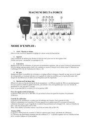 magnum delta force mode d'emploi